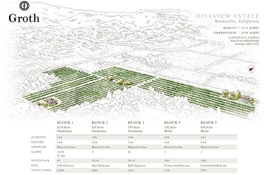 Groth Hillview Estate Vineyard Map