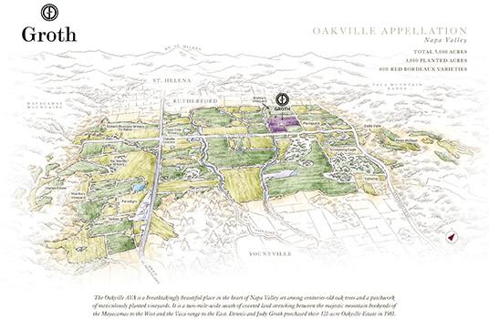 Groth Oakville Estate Vineyard Map